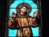 Stained Glass Window Of St Francis