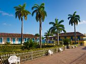 Central square in the colonial town of Trinidad in Cuba, a famous touristic landmark on the caribbea poster