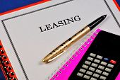 Leasing Is A Type Of Financial Services, A Form Of Lending For The Acquisition Of Fixed Assets By En poster