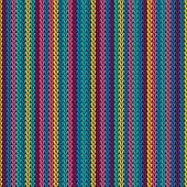 Cashmere Vertical Stripes Knitting Texture Geometric Vector Seamless. Fair Isle Sweater Knitwear Fab poster