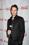 LAS VEGAS - APR 26:  Taylor Kitsch arrives at the CinemaCon 2012 Talent Awards at Caesars Palace on