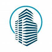Real Estate Vector Logo Design, Eco Real Estate Logo, Tree With Real Estate Logo, Building Logo Desi poster