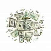 Money Falling. American Money. Washington American Cash, Usd Bac poster