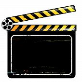 picture of clapper board  - Clapper Board vector illustration with layers file - JPG