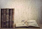 Vintage Books And Glasses