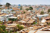 Kibera Is The Biggest Slum In Africa. Slums In Nairobi, Kenya. poster