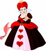 stock photo of angry bird  - Angry Queen of Hearts pointing - JPG