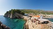 stock photo of na  - City of Petrovac na Moru in Montenegro - JPG