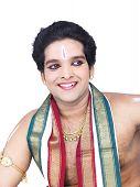 foto of bharatanatyam  - male Bharathanatyam dancer of Tamil nadu in South India - JPG