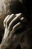 stock photo of 55-60 years old  - Man Praying - JPG