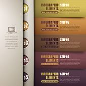 stock photo of classic art  - classic modern abstract 3d paper infographic elements - JPG