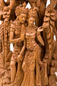 pic of sita  - Rama and his wife Sita of Hindu mythology wood carving - JPG