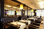 pic of restaurant  - new and clean luxury restaurant in european style - JPG