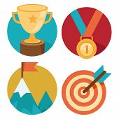 foto of medal  - Vector success concepts  - JPG