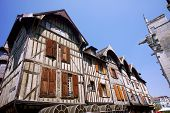 picture of tenement  - tenement houses in old town of Troyes France - JPG