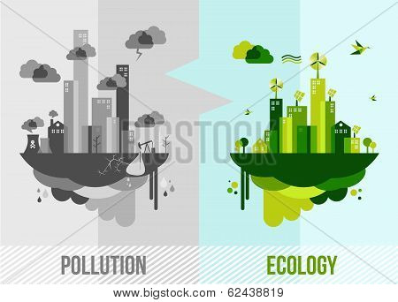 Green Environment Concept Illustration poster