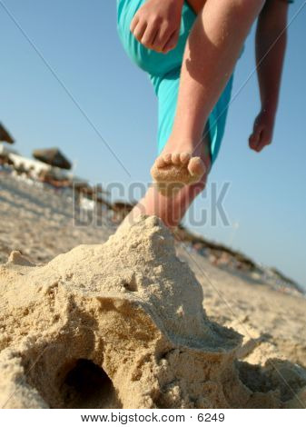 Stamping On Sand Castle poster