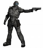 stock photo of trooper  - Futuristic sci - JPG