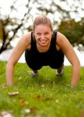 picture of workout-women  - A woman doing push - JPG