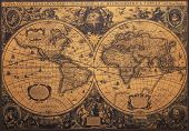 pic of decoupage  - Old vintage map of world - JPG