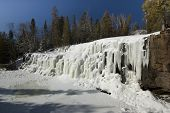 Frozen Gooseberry falls along lake Superiors northern shore.