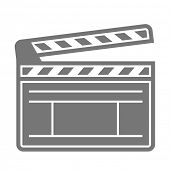 minimalistic illustration of a clapper board, eps10 vector