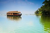 pic of houseboats  - Traditional Inian house boat  - JPG