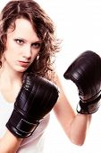 stock photo of martial arts girl  - Martial arts - JPG