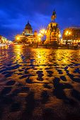 stock photo of sankt-peterburg  - Classical Christian cathedral in the evening  - JPG