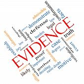 Evidence Word Cloud Concept Angled