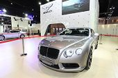 Nonthaburi - March 25: Bentley Continental Gt V8 Convertible Car On Display At The 35Th Bangkok Inte