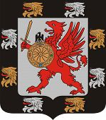 stock photo of romanov  - Coat of arms of the Romanov dynasty  - JPG