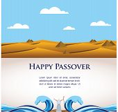 image of bible story  - happy Passover - JPG