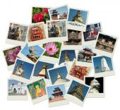 Stack Of Photo Shots With Nepal Landmarks poster