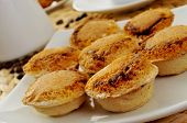 picture of pasteis  - closeup of a plate with pasteis de feijao typical Portuguese pastries - JPG