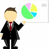 Illustration Of A Businessman And Chart