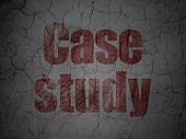 Education concept: Case Study on grunge wall background