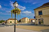 image of synagogue  - Town of Krizevci in Croatia main square and synagogue