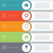pic of web template  - Modern minimal colorful arrow infographics elements - JPG