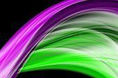 pic of fantastic  - Fantastic elegant and powerful green and purple ribbon background design illustration - JPG