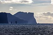 picture of faroe islands  - View of part of the Faroe Islands near Klaksvik in the North Atlantic at dusk - JPG