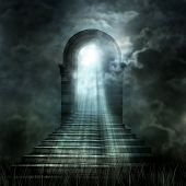 foto of heavenly  - Staircase leading to heaven or hell - JPG