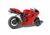 stock photo of realism  - red fast isolated detailed super sports motorbike - JPG