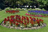 Jephson Gardens in Leamington Spa, Warwickshire poster