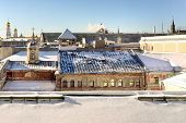 pic of roofs  - Moscow old roofs - JPG