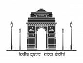 picture of india gate  -  An illustration of India Gate in New Delhi - JPG