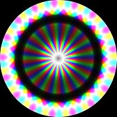foto of trippy  - Abstract crazy colorful background on black background - JPG