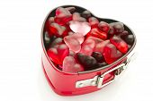 pic of jelly beans  - isolated heart shaped mold with heart jelly beans - JPG