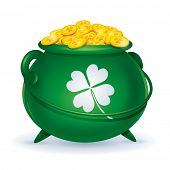picture of pot gold  - St Patricks Day symbol - JPG