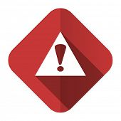 pic of warning-signs  - exclamation sign flat icon warning sign alert symbol  - JPG